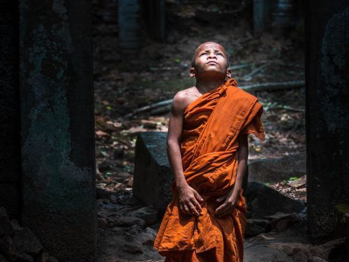 Young monk at Koh Ker - Koh Ker, Cambodia