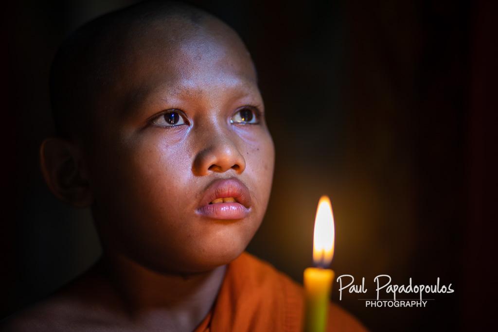 Eyes at Wat Chao Srei Vibol