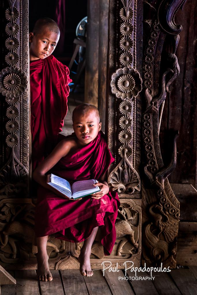 Studying - Bagana, Myanmar