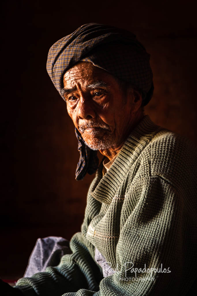 Old man and cheroot
